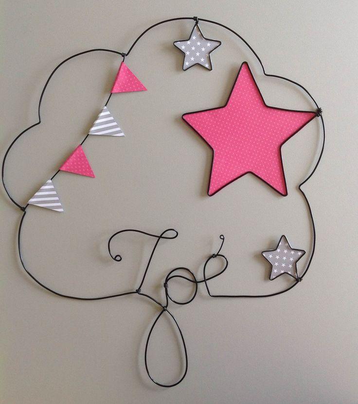 Prénom en fil de fer personnalisable thème étoile