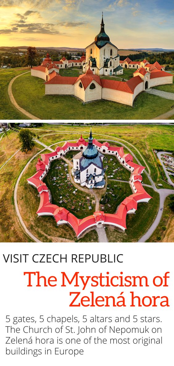 The UNESCO Church of St John of Nepomuk on Zelena hora in the Vysocina region of the Czech Republic is one of the most unique and original buildings in Europe.