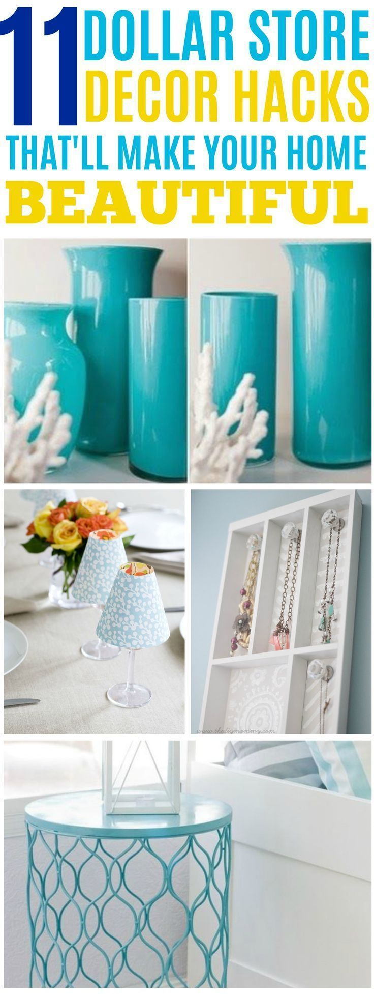 3589 best decorating ideas images on pinterest bricolage for Dollar store art