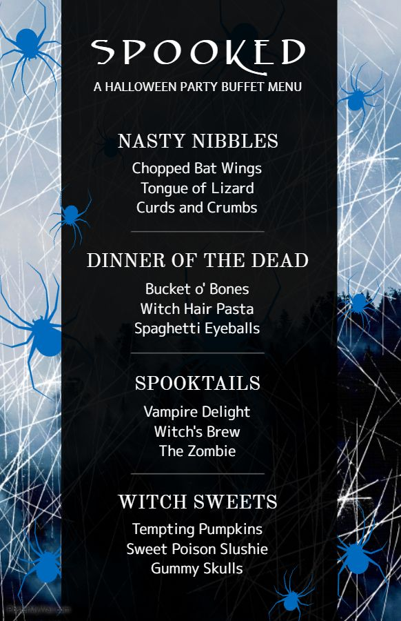 halloween menu card design template halloween menu templates in