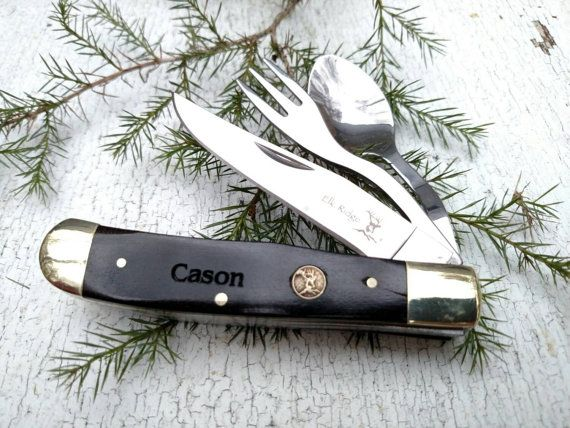 Camping Knife Army Knife Boyscout Knife Hobo by TIMEandAGAINbyRuss