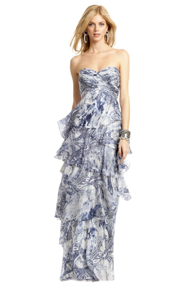 The Maid of honor dress!  French Quarter Batik Gown by Carlos Miele  { Rent the Runway }