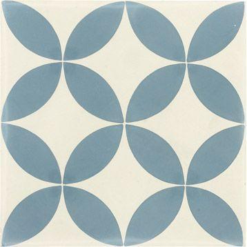 Décor en carreaux de ciment bleu, 20x20 cm | Leroy Merlin