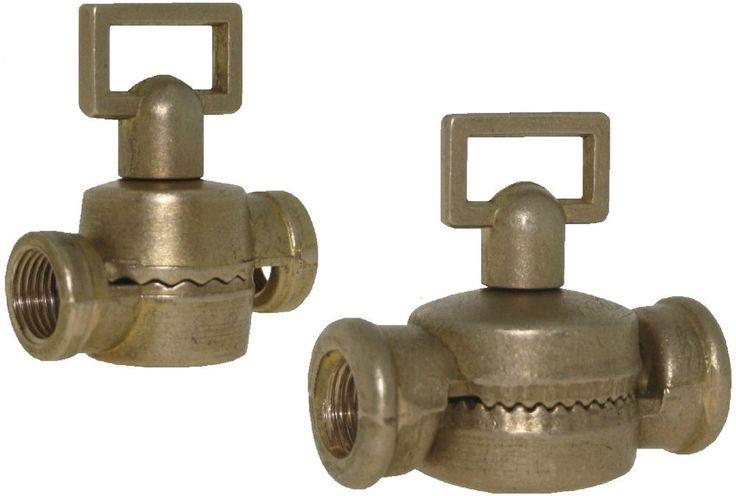 Drehgelenk M10x1 2x Innengewinde 220° Messing natur Druckguss Zahnkranz Vintage
