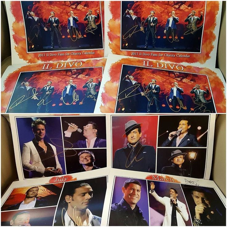 I was lucky to get 4 copies of the 2017 Il Divo Fans for Charity calendar's signed at the Reno concert. I mentioned the idea during the Meet and Greet I attended in Minneapolis back on October 23rd. Since I didn't know if I would have a chance to them signed that's why nothing was announced about it. An opportunity arose and the guy's were able to sign them in Reno.  Seb Carlos David and Urs were told the funds  raised from their signed calendar will be donated to the charity of their…