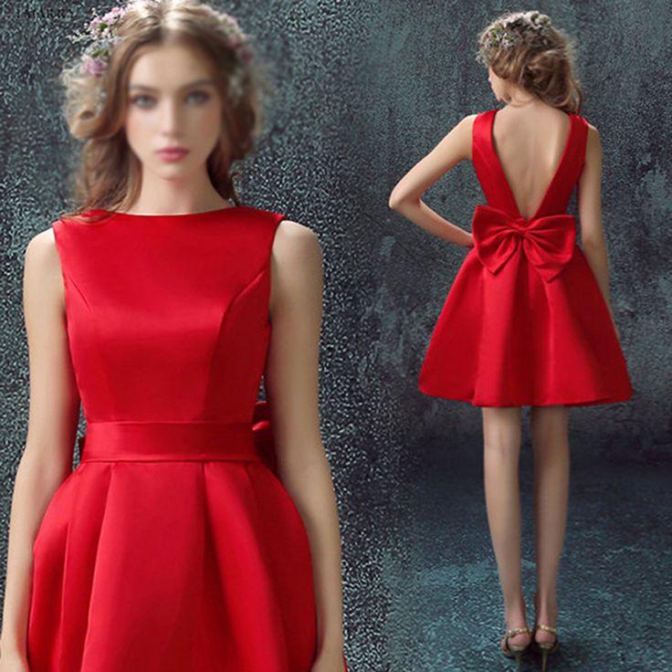 Sweetheart Red Homecoming Dresses,Sleeveless Homecoming Dresses,Graduation Dresses,Satin Homecoming