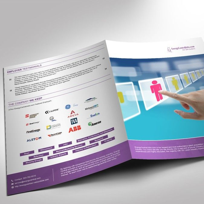 energycentraljobscom sales brochure to match new website look and feel by vivan malhotra