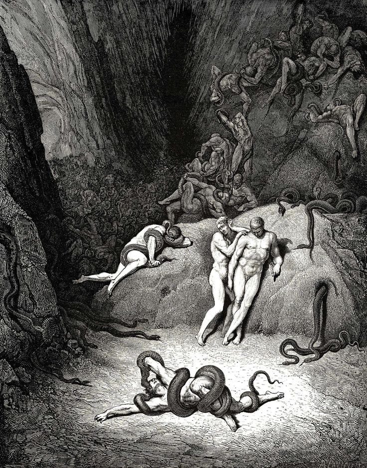 """Gustave Dore - Dante Inferno """"How Dost Thou Change Agnelloo"""""""