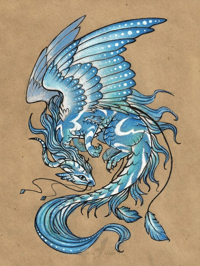 Wind dragon - tattoo design by AlviaAlcedo.deviantart.com on @deviantART