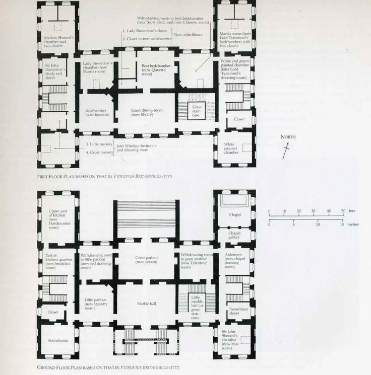 012 Belton House The Plan Illustrates The Symmetry Of The Design