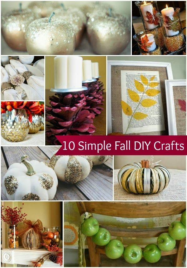 10 Simple Fall DIY Home Decor Crafts- Love these. The mason jar pumpkin is so cute!