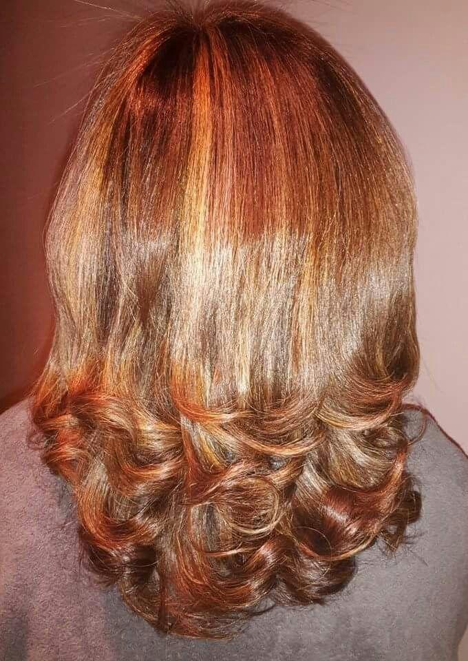 peinado de puntas rizadas con plancha peinados