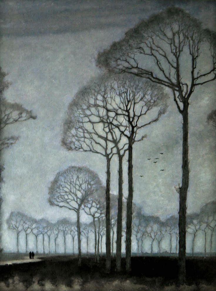 Mankes, Jan (Dutch, 1889-1920) - Row of Trees - 1915