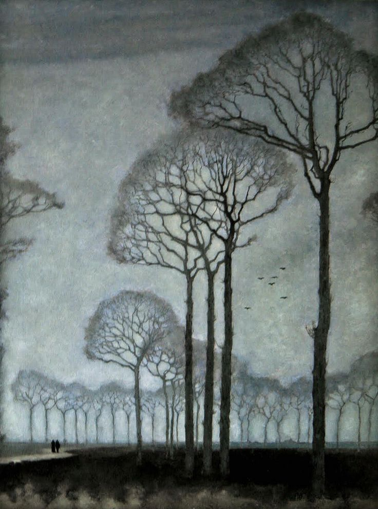 Mankes, Jan (Dutch, 1889-1920) - Row of Trees - 1915
