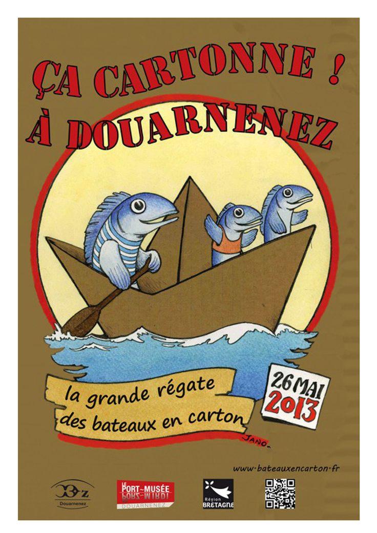 ça cartonne à Douarnenez, faites votre bateau en carton pour mai 2013 | Finistère Bretagne