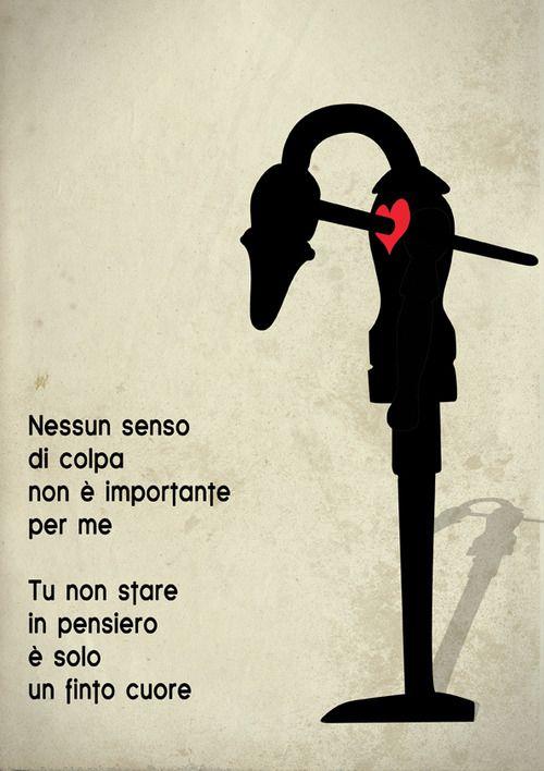 Nessun senso di colpa, non è importante per me.  Tu non stare in pensiero è solo un finto cuore. (F.F.)