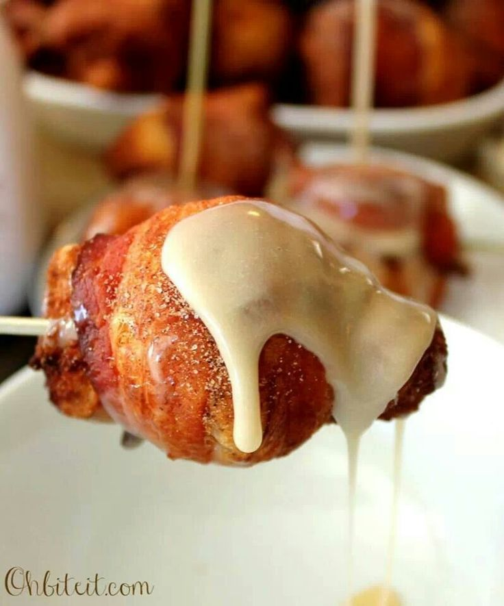 Bacon wrapped cinnamon rolls | It's all about Bacon | Pinterest