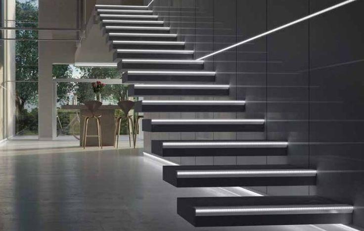 Amenajare trepte cu profile de treapta cu leduri Progress Prostair Led