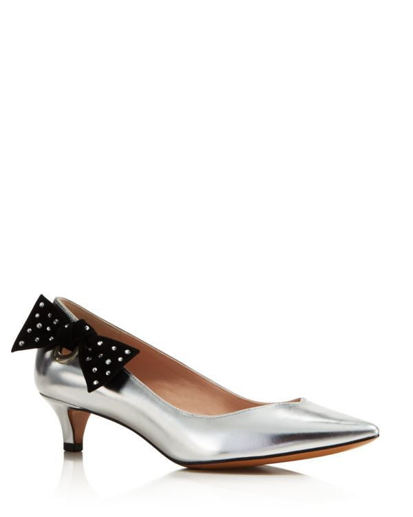 Marc Jacobs Ally Pointed Toe Kitten Heel Pumps