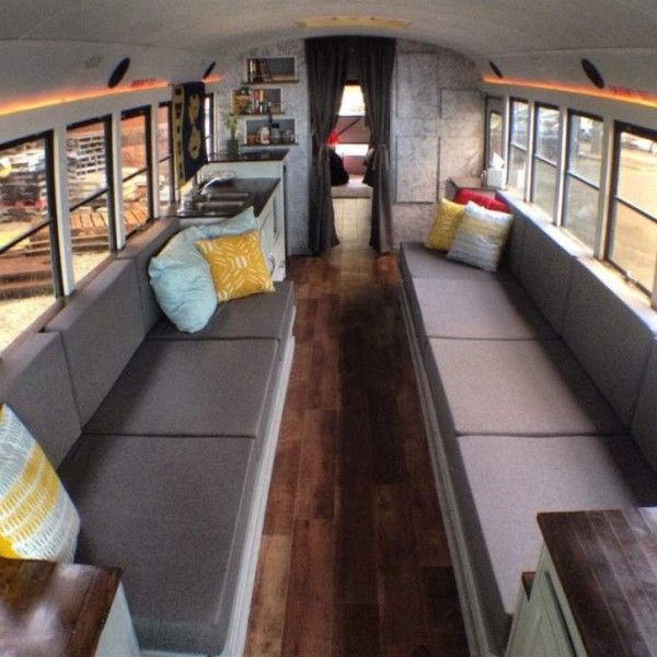 Salvaged Trailer Turned Tiny: 17 Best Ideas About School Bus Camper On Pinterest