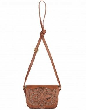 Nica Marnie owl crossover bag, tan
