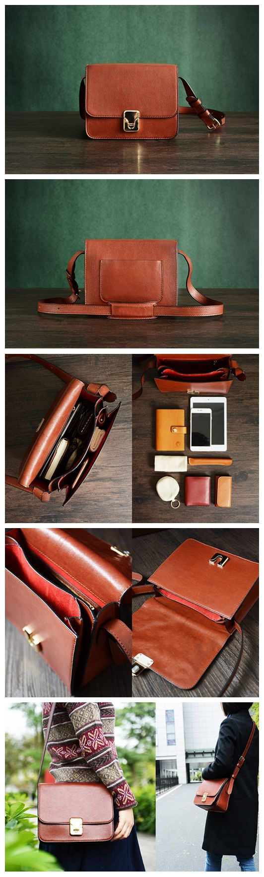 Custom Handmade Vegetable Tanned Italian Leather Satchel Bag Shoulder Bag Women Pouch Bag