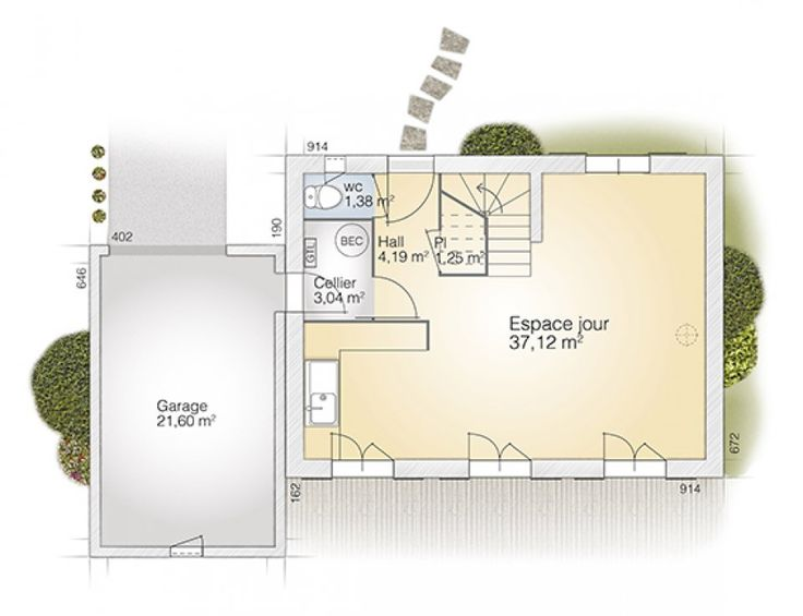 Plan maison neuve à construire - Maisons France Confort Eco-Concept