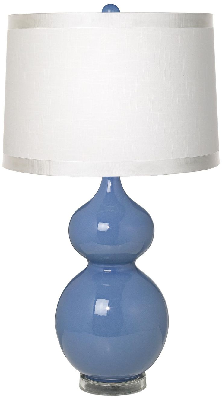 57 best bedside lamps images on pinterest table lamps bath white drum shade double gourd slate blue ceramic table lamp lamps plus geotapseo Gallery