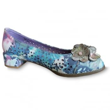 New in from quirky brand Laura Vita are these ladies Brittany pumps in multicolour. Dare to be different in these bold handcrafted shoes made from natural leather which boast comfortable padding and a flexible sole. These brilliantly detailed shoes are sure to make you stand out this summer and they're perfect if you're looking for a dressy holiday look. http://www.marshallshoes.co.uk/womens-c2/laura-vita-womens-brittany-03-grey-multi-punch-detail-heeled-pump-shoes-p4713