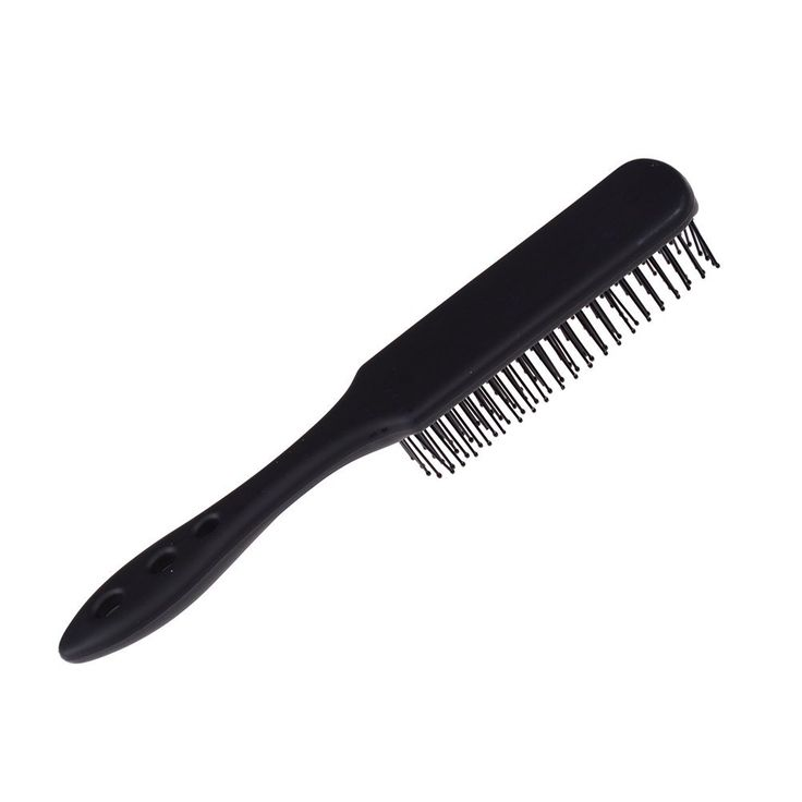 Lwestine 1Pc Mens Hair Brush, Hairdressing Scalp Massager Comb Airbag Hair Styling Tools, Handcraft Anti-static 8 Row Hair Brush, Plastic, Black * Read more info by clicking the link on the image. #hairnourishing