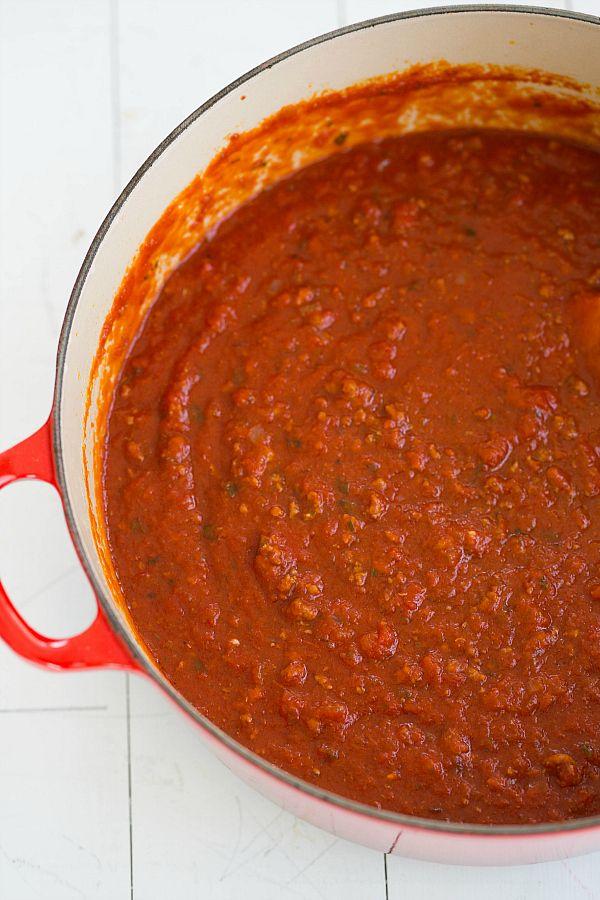 The BEST Meat Sauce. EVER. | browneyedbaker.com #recipe