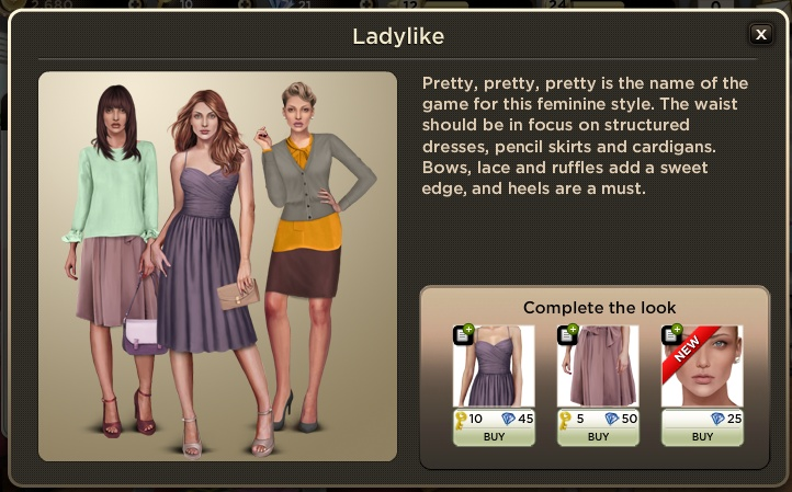 Ladylike: Pretty, pretty, pretty is the name of the game for this feminine style. The waist should be in focus on structured dresses, pencil skirts and cardigans. Bows, lace and ruffles add a sweet edge, and heels are a must.