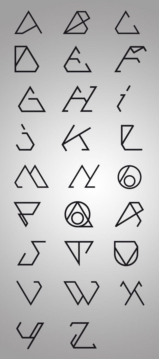 Futuristic font type.