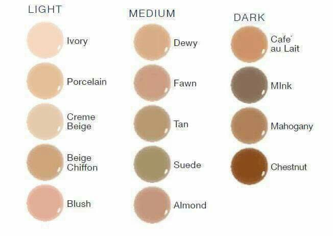 This is really amazing makeyp... here are the foundation colors... awesome thing about this makeup it works with the pigment of your skin to make it the right color... so getting close to your color will work for you Senegence.com distributor #200031