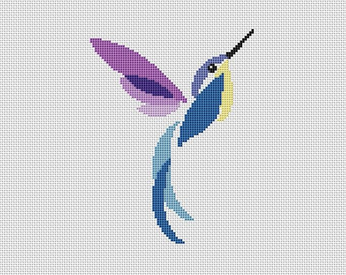 Instant Download,Free shipping,Cross stitch pattern, PDF,humming bird,ZXXC0147