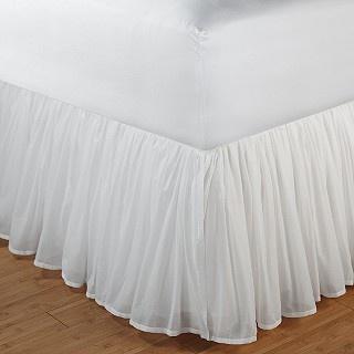 Bedskirt idea - make it myself with longer drop