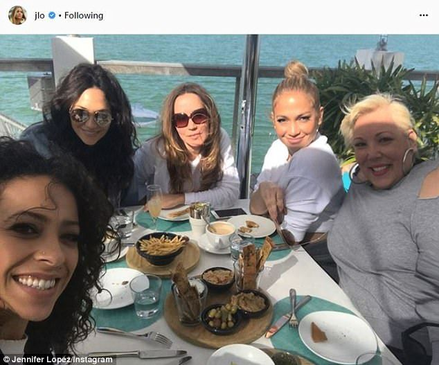 Girl's outing: Jennifer posted pictures of her daytime excursion on Instagram captioning t...
