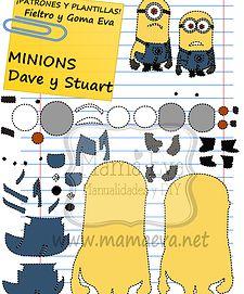 """¡Los dos Minion de """"Gru, Mi villano favorito"""" en el mismo tutorial. Espero que os guste. Estos y muchos más en www.mamaeva.net"""