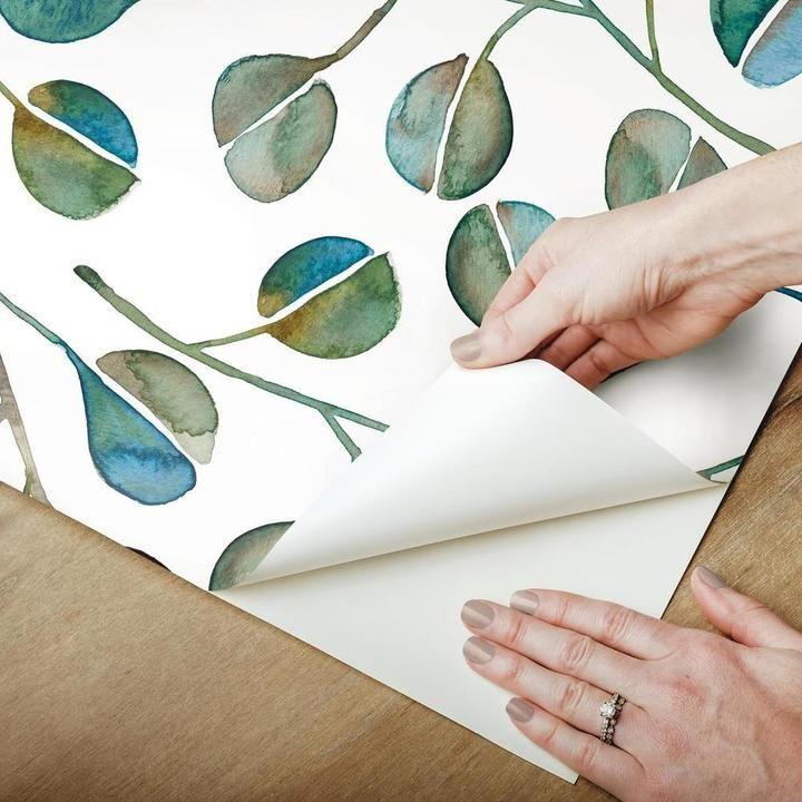 Cat Coquillette Eucalyptus Peel Stick Wallpaper Peel And Stick Wallpaper Room Visualizer Wallpaper