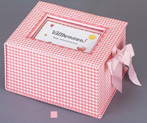 Baby Schatzkästchen Willkommen! rosa Markenartikel in hoher Qualität von COPPENRATH DIE SPIEGELBURG Geburt Geschenk Mädchen Geburt Geschenk Geschenk Geburt Mädchen Taufe Geschenk Patenkind Mädchen