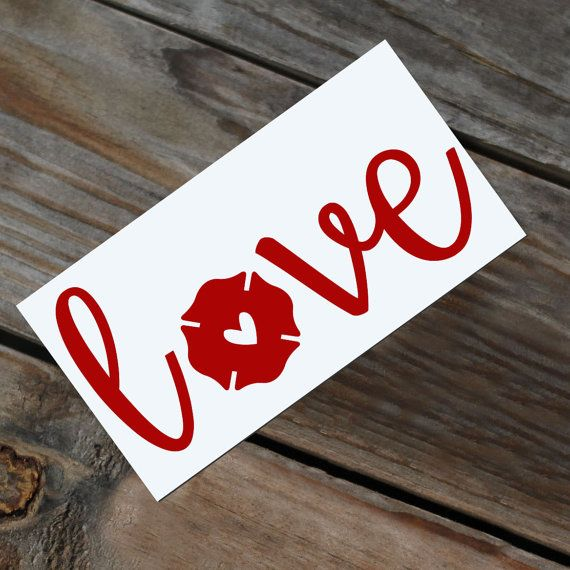 Show your love! This decal measures 5.5 long and 2 tall or larger. It can be customized in any size! Message me for options. Its perfect for