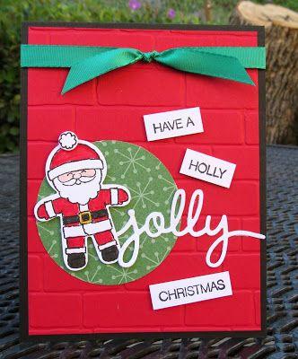 Krystal's Cards: Stampin' Up! Cookie-Cutter Santa