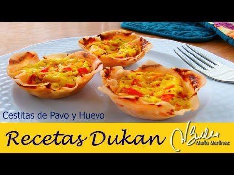 Desayuno Dukan fase Ataque: Cestitas de Pavo y Huevo / Dukan Diet PP Breakfast