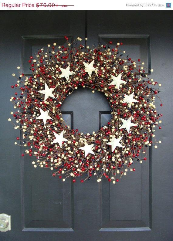 $70.00. CYBER MONDAY Shop Sale Fourth of July Wreath July by ElegantWreath