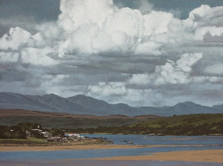 John Meyer / Seabreeze / acrylic & sand on canvas / 115 x 155 cm