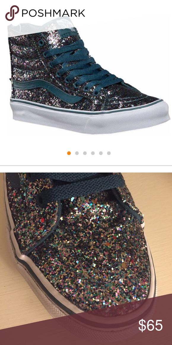 Multicolor Glitter High-Top Vans Sz8- EUC These are so FUN! They are no longer listed on Vans website... originally bought for $100. I only wore once or twice, so verrrry little wear on them. ****THIS IS AS LOW AS I WILL GO ON THESE**** Vans Shoes Sneakers
