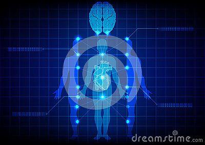 Tecnología médica abstracta del cuerpo Diseño de la ilustración