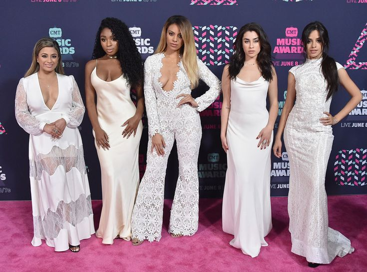 Fifth Harmony from CMT Music Awards 2016 Red Carpet Arrivals  These ladies can work! Ally Brooke, Normani Kordei, Dinah Jane, Camila Cabello, and Lauren Jauregui are pretty in white before their performance with Cam.