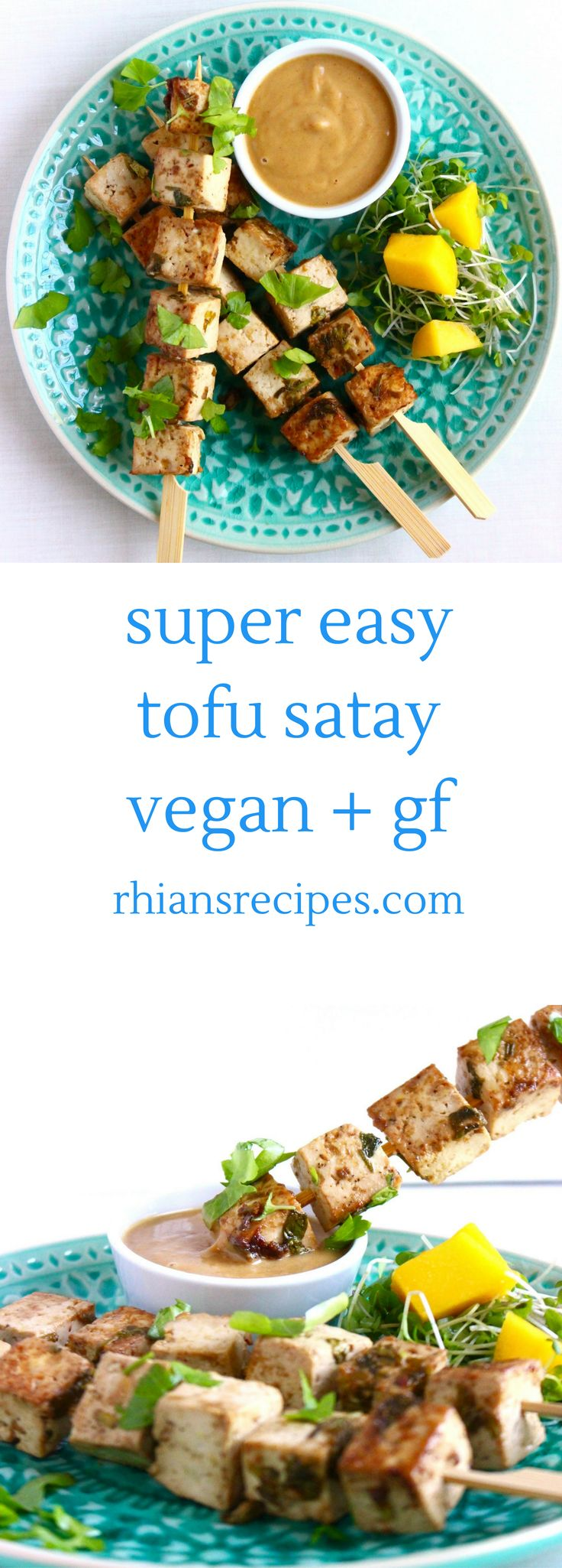 Vegan Tofu Satay: rich and satisfying and just as delicious as its chicken counterpart. Also incidentally gluten-free and really healthy!