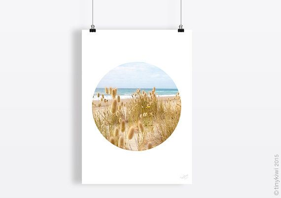 Sea side print, At the sea art, Sand and sun minimal art, Wall art, Instant download, Home decor, Circle art, Modern design, Geometric art